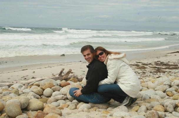 Posando em Pebble Beach