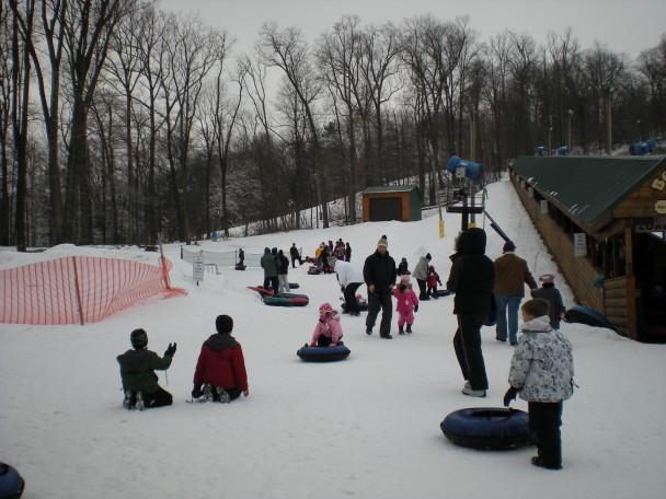 A área para os menores de 5 anos.
