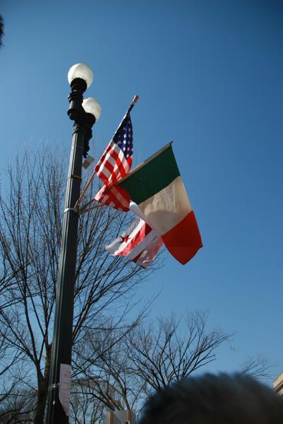 bandeiras dos Estados Unidos, Irlanda e DC