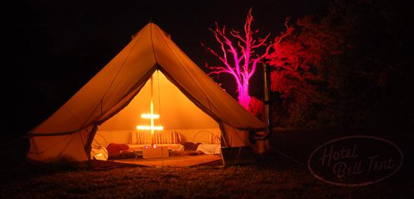 camping iluminado