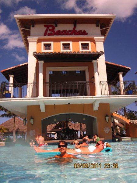 O complexo de piscinas