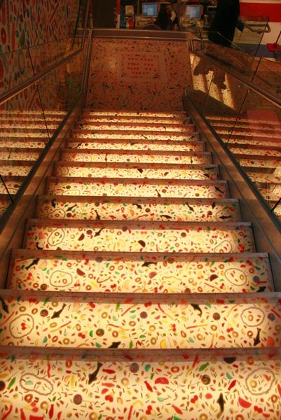 Escadas para o andar de baixo