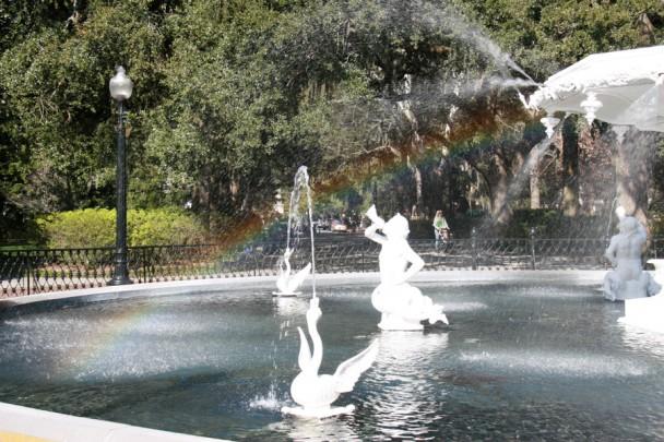 Arco iris na fonte