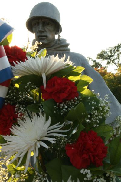 Flores para celebrar o memorial