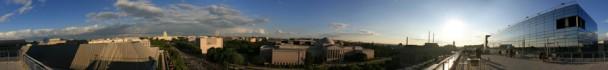 vista de DC do alto do Newseum