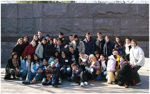 Grupo no FDR Memorial