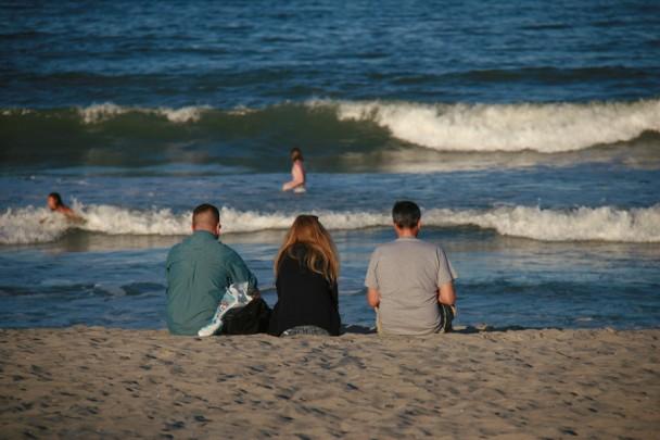 Areia e mar em Cocoa Beach