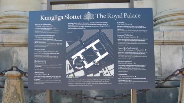 Placa na entrada do Palacio