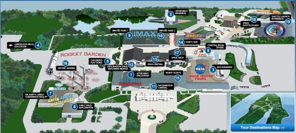 Mapa do Kennedy Space Center