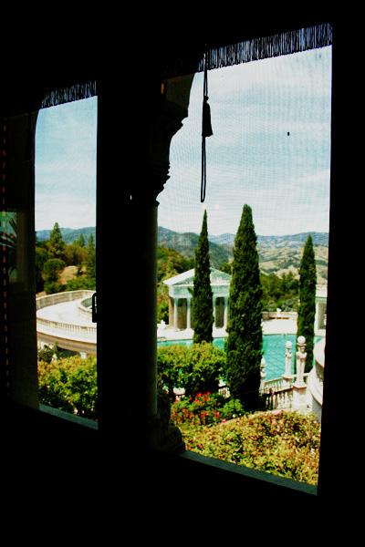 Vista de um dos quartos da casa de hospede