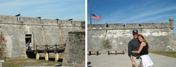 Na entrada do Forte