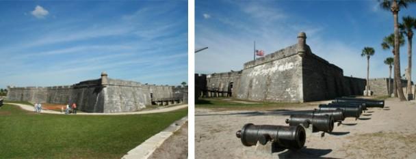 Detalhes do Forte de lado