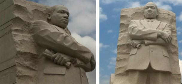A estatua de lado