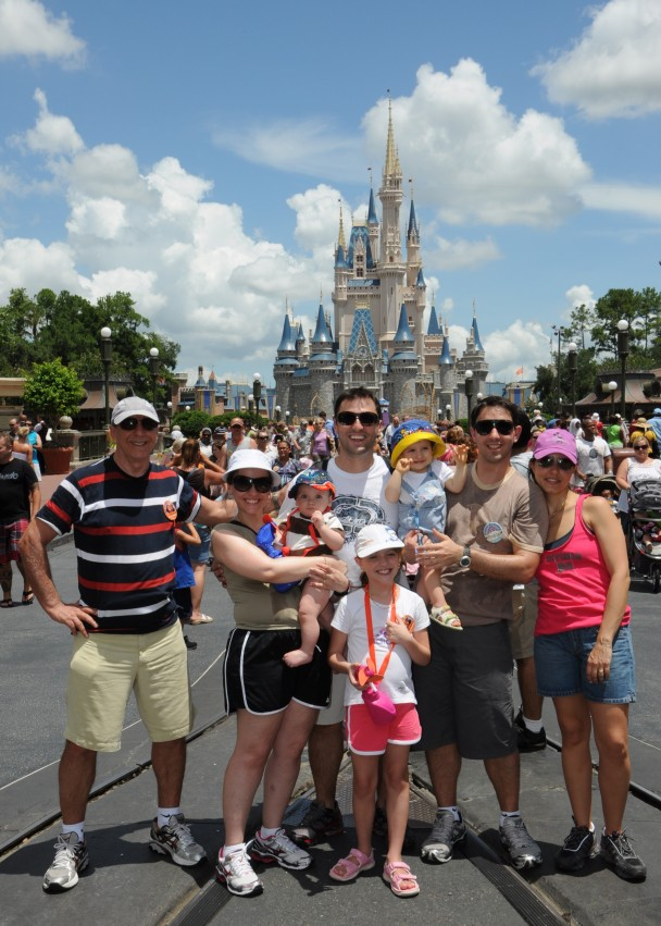 Parte da familia no Magic Kingdom