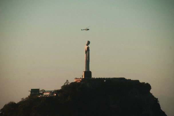 Helicopter no Cristo Redentor