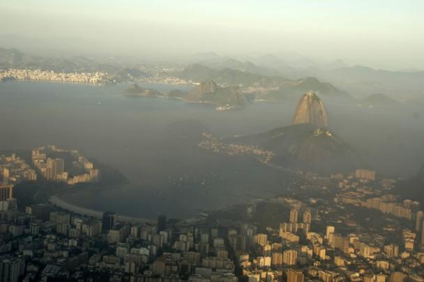 O Pao de açucar e a praia de Botafogo