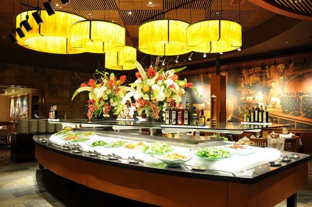 O buffet de Saladas