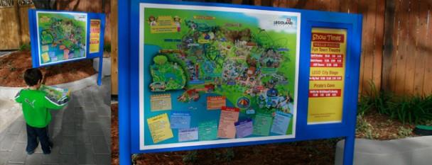 Mapa na Entrada