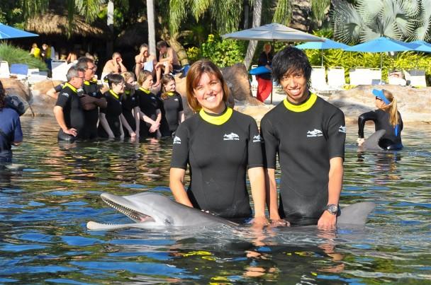 Interacao com os golfinhos
