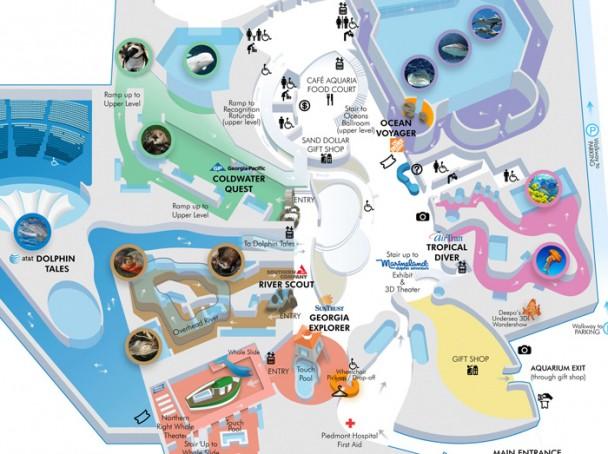 Mapa do Georgia Aquarium
