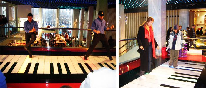 Dançando no Piano da FAO Schwarz