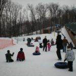Estação de esqui com crianças na área de DC com Loraine