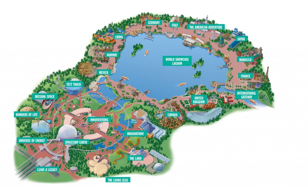 Mapa do Epcot Center