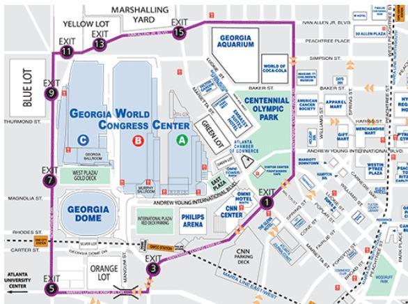 Mapa do Centro de Atlanta