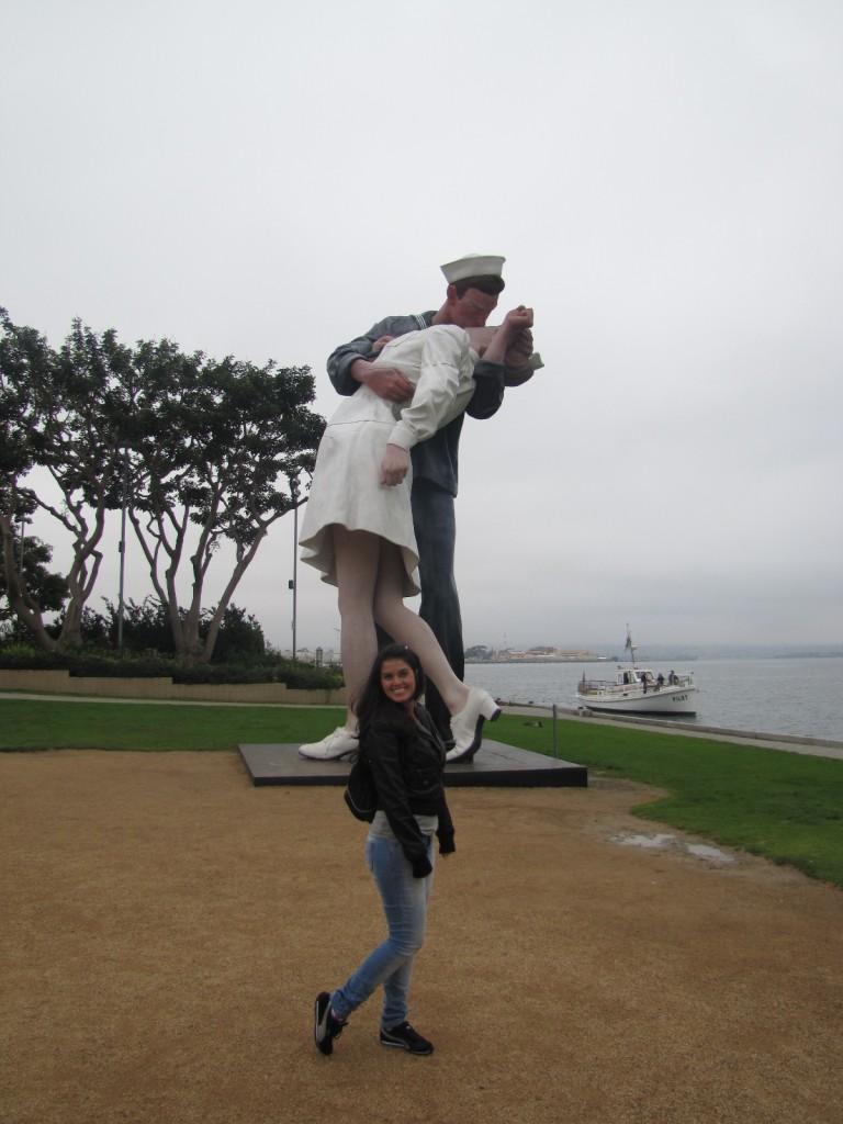 A Enfermeira e o Marinheiro, um dos símbolos de San Diego.