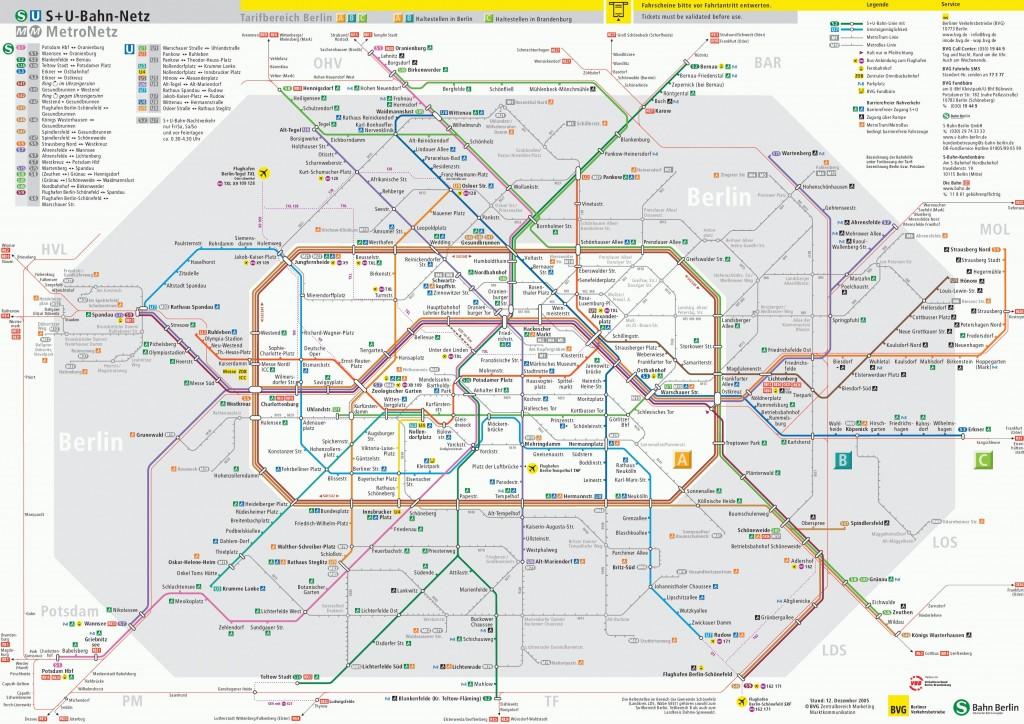 Mapa de Transporte de Berlim
