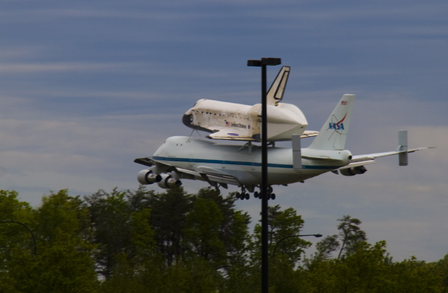 Se preparando para aterrisar no aeroporto Dulles que fica ao lado