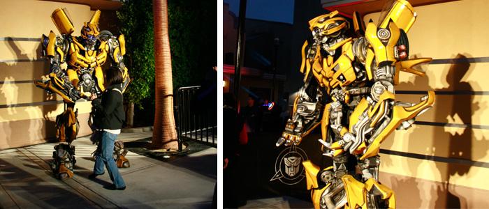 A foto com Transformers