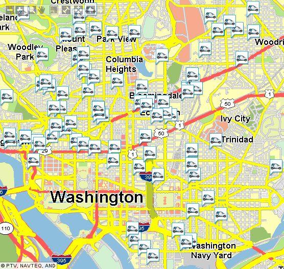 Mapa de Onde estão os carros