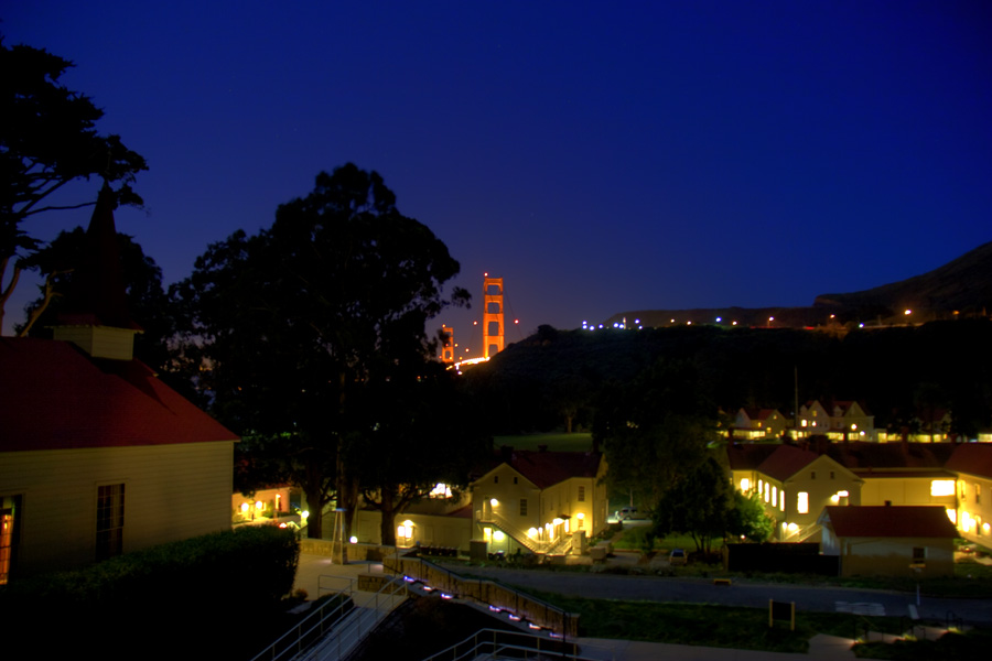Vista do quarto em Cavallo Point