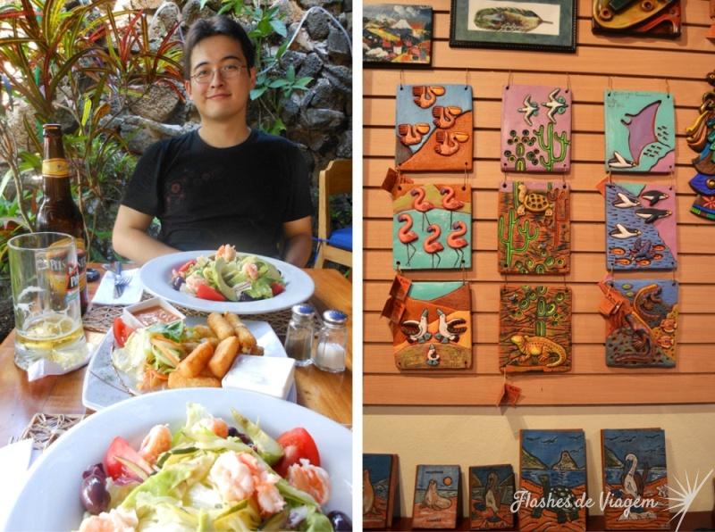 Comer bem e comprar tambem sao opcoes em Puerto Ayora (Ilha Santa Cruz)