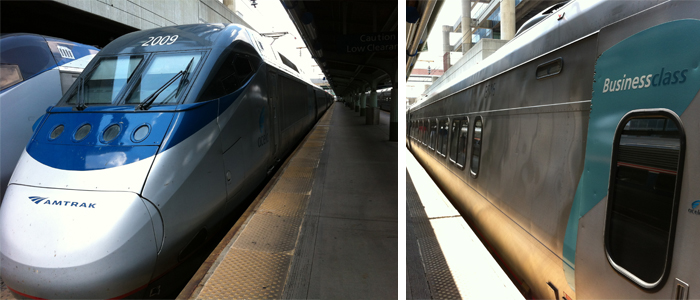 O trem na estação em DC