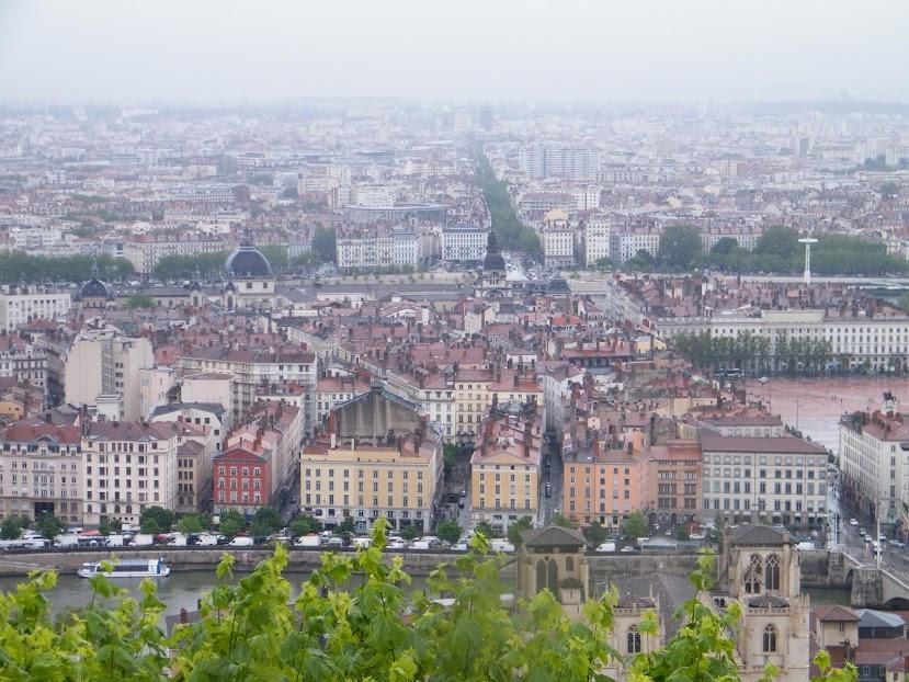 Lyon vista do alto