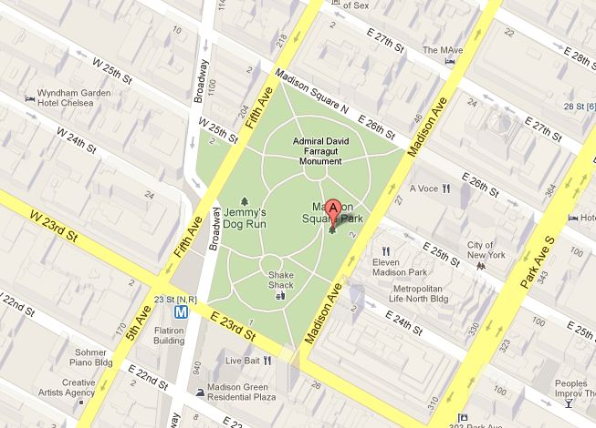 Mapa Madison Square Park