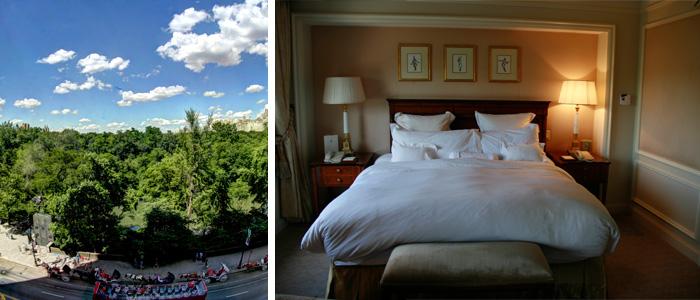 O quarto e a vista do Ritz Central Park
