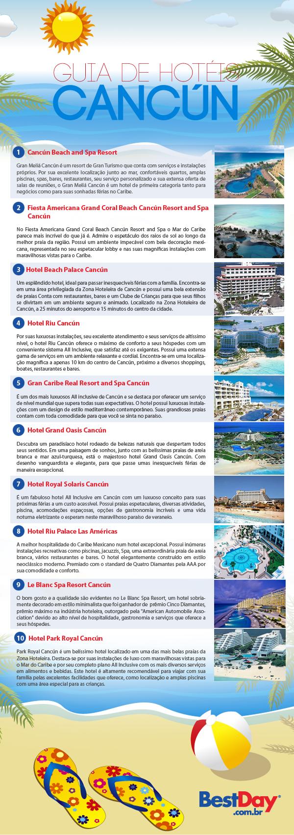 guia de hoteis cancun