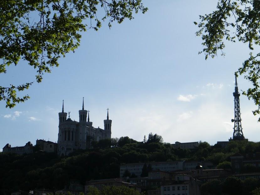 Entardecer em Lyon, a beira do Saône