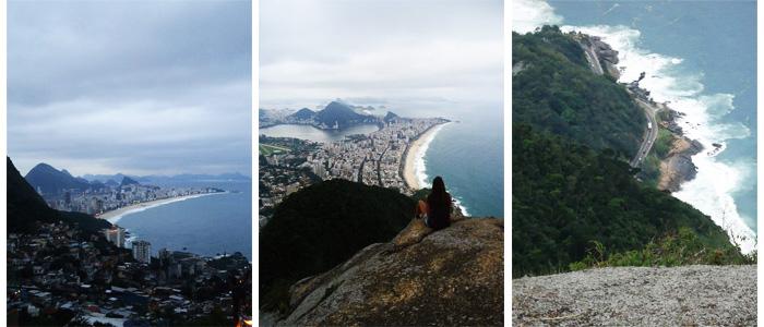 Vista do Rio do alto do morro do Vidigal