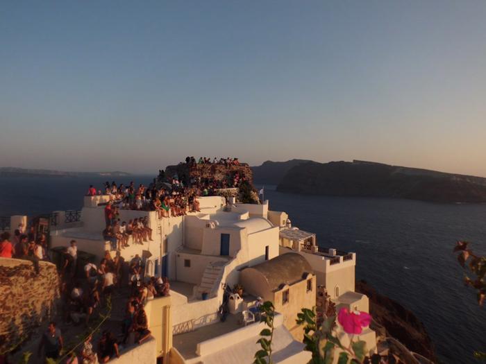Todo mundo esperando pra ver o pôr do Sol...