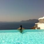 Santorini com a Fernanda