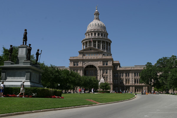 O capitólio de Austin, sede do governo do estado do Texas