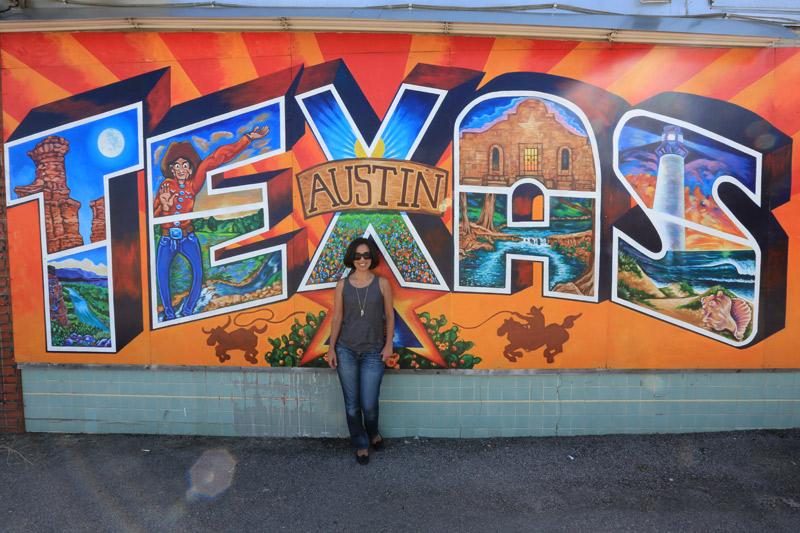 Um dos muitos murais bacanas de Austin