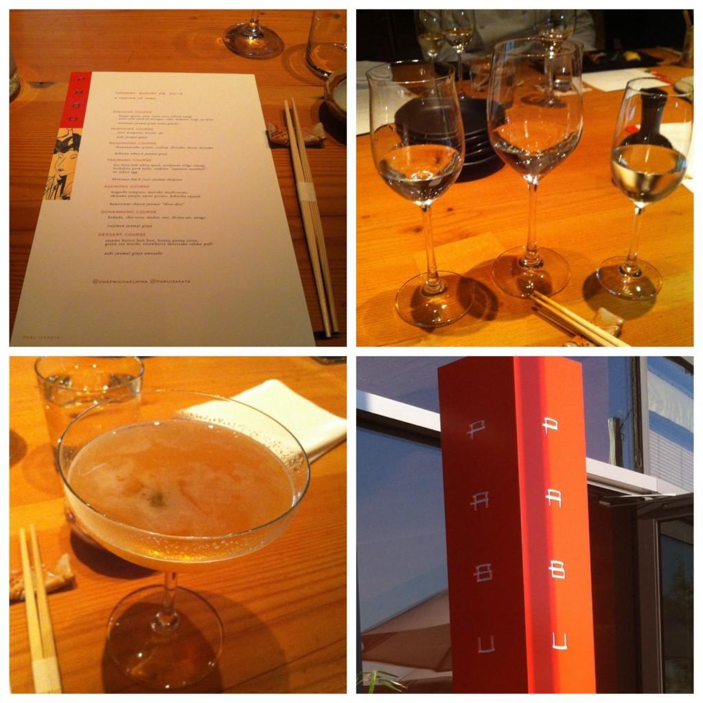Menu e Tasting de Sake