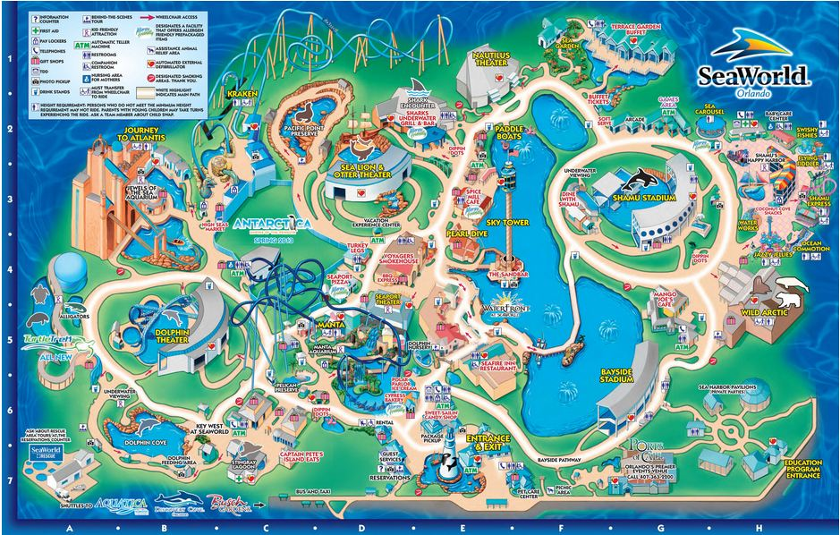 Mapa do Sea World