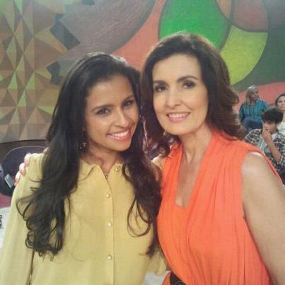 Flávia com a Fátima Bernardes