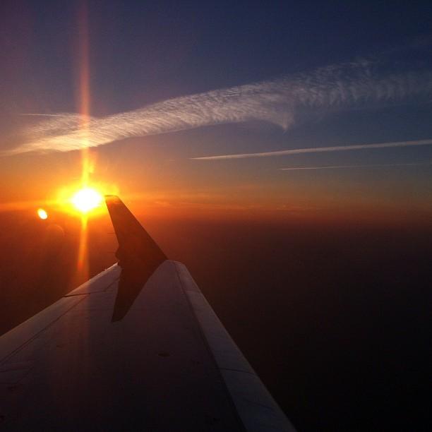 Por do sol quase chegando em NY